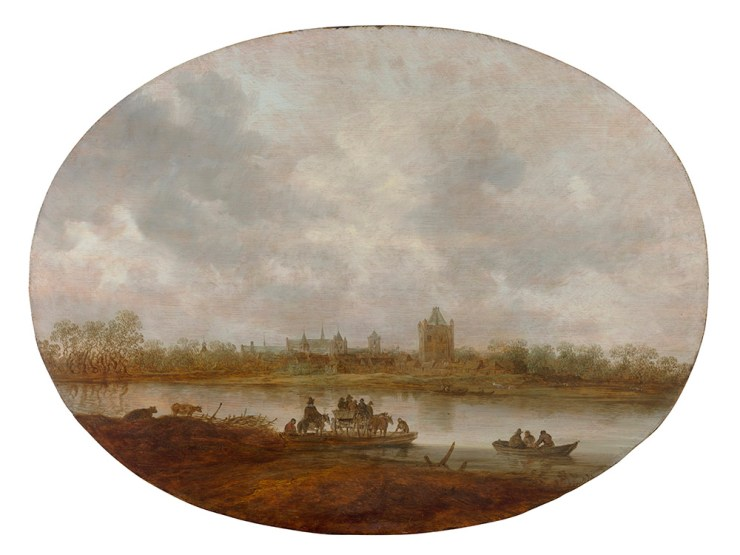 GALERIE JACQUES LEEGENHOEK, Jan Van GOYEN, A river landscape with figures