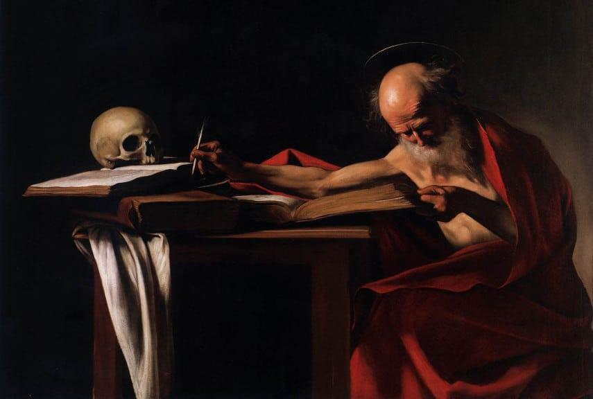 Caravaggio Saint Jerome Writing