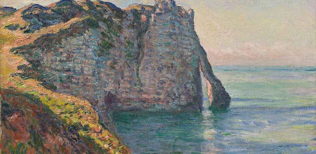 Claude Monet: The Cliff and Porte d'Aval