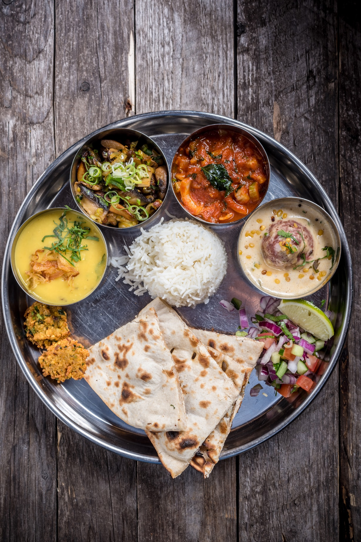 THALI AT CHEF CYRUS TODIWALA CAFE SPICE NAMASTE