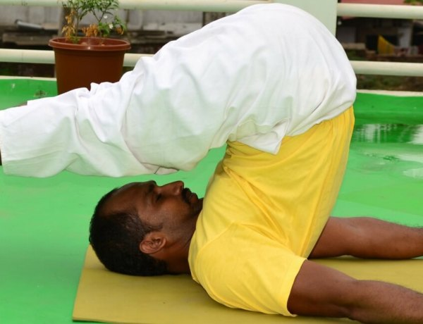 Learn yoga Halasana Plow posture read in Fine dining Indian magazine