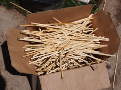 Disposable chopsticks, ready to be washed and used for the next banquet.
