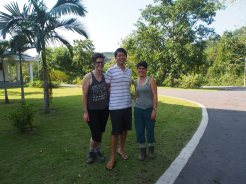 Aki, Naima and me.