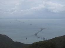 Hong Kong - Zhuhai (mainland China) - Macau bridge under construction.