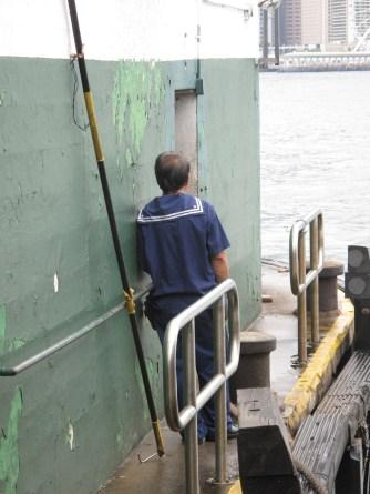 Hong Kong Ferry sailor portrait.