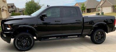 2018 black Ram 2500 exterior detail service