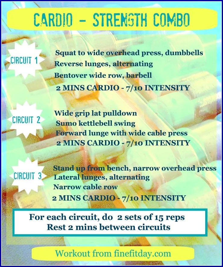 Circuit Training Combining Cardiovacular Work With Weight