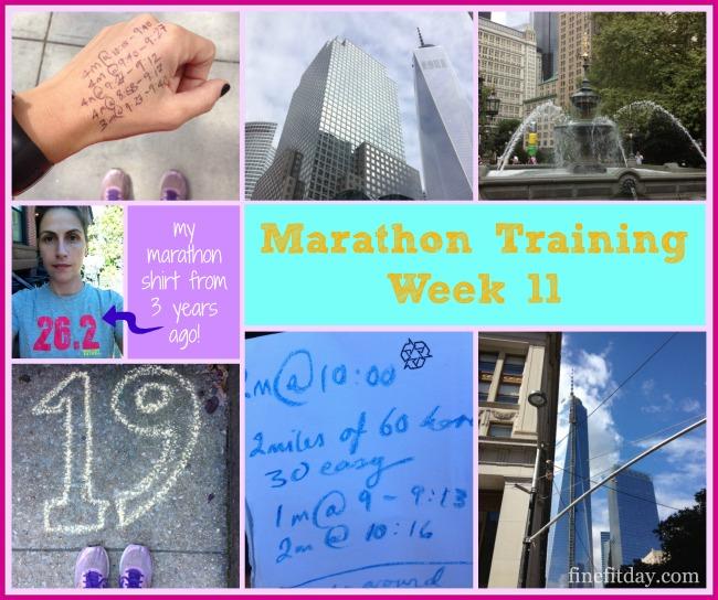 Marathon Training Update Week 11