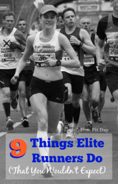 9 Things Elite Runners Do (That You Wouldn't Expect). Ever seen the lead pack running in a race and thought they have it all under control - no fear, no nerves, perfect training, ideal fitness perfect eating, loving every minute? Think again - elite runner Tina Muir shares some unlikely secrets of professional runners.