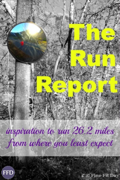The Run Report - 26.2 on the horizon. The Run Report - finding inspiration to run a marathon in an unlikely place. Have you ever found the motivation to go after a big goal where you least expected to find it? Check out this mom's goal for her next marathon and where she's getting her drive to keep going from. | running | marathon training | run chat | fitness motivation