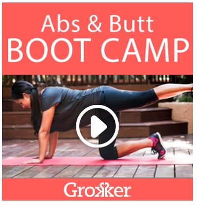 At Home Workout - Abs and Butt Boot Camp - Grokker Review from Fine Fit Day