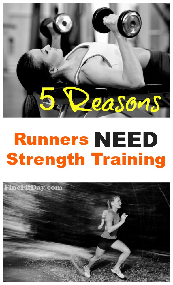 If you're a runner and you're tempted to skip strength training, read this list of 5 reasons runners need to strength train first. To improve speed, fitness, running form and more, working out with weights is so important. And you may be surprised by #5!