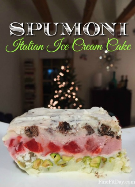 Fine Fit Day December Review - all the workouts, running,, features, holiday fun and stories from the month! Here's what went on in December - plus a recipe for Spumoni ice cream cake!