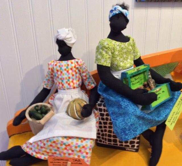 New soft sculpture Gullah Art Dolls by DMcB - Josephine & Xaana
