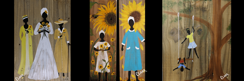 Reclaimed Fence Artwork by Samantha CLAAR of Gullah Living