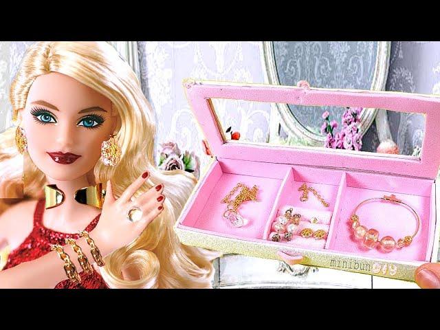 sddefault 13 - How to make 9 DIY Barbie Dollhouse Jewelry items and Jewellery Box