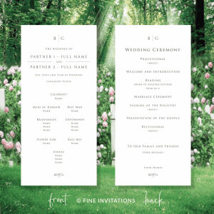 minimalist wedding programs online