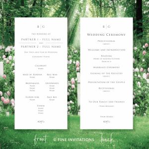 minimalist wedding programs online