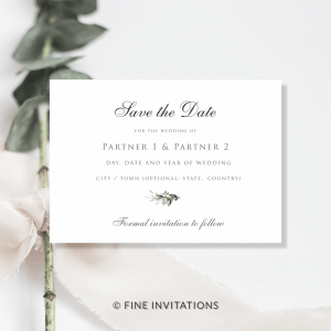 foliage wedding save the date online