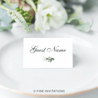 foliage wedding name place cards australia