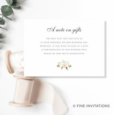 blush floral wedding gifts cards Australia