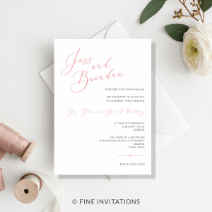modern calligraphy minimalist wedding invitations Australia
