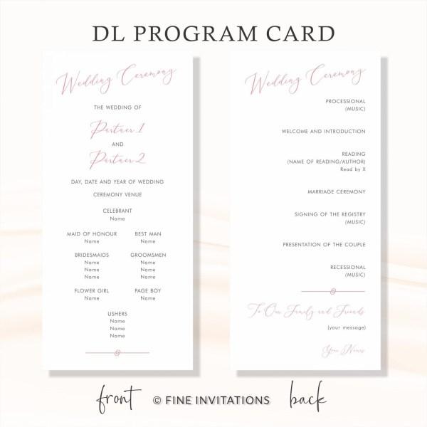 modern calligraphy minimalist wedding ceremony cards online menus