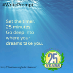 Set the time, 25 minutes. Go deep into where your dreams take you.