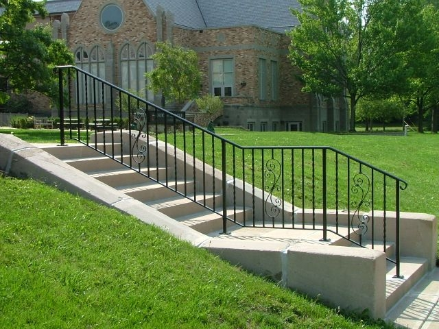 Exterior Ironwork Finelli Ironworks   Rod Iron Railings For Exterior Stairs   Front Porch   Porch Railing Kits   Railing Ideas   Railing Designs   Custom