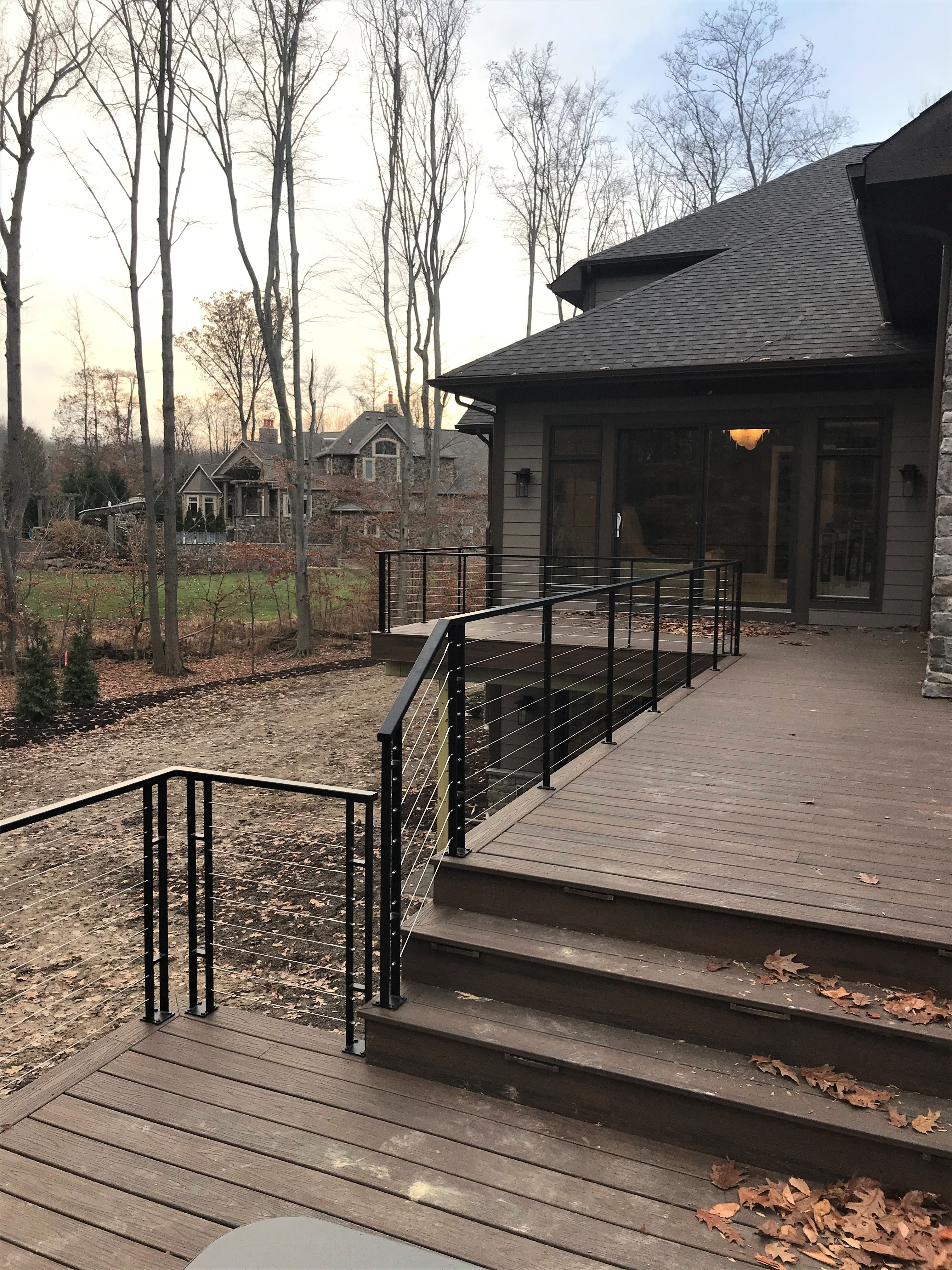 Exterior Contemporary Railings Finelli Ironworks   Modern Outdoor Stair Railing   Stainless Steel   Commercial   Balcony   Minimalist   Decorative