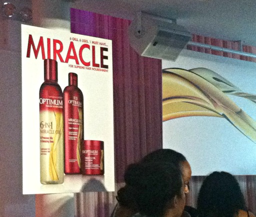 optimum salon hair care miracle oil product launch party