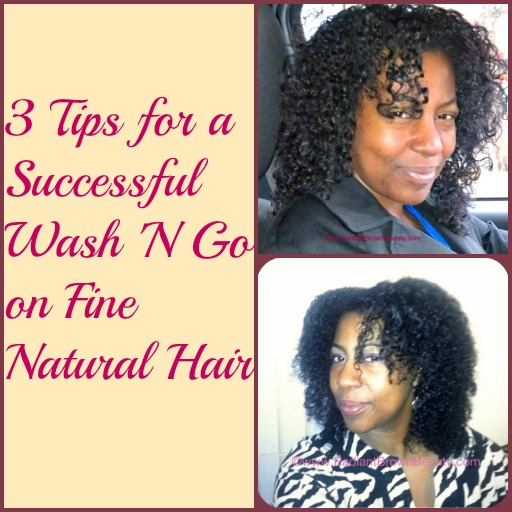 2013 Wash N Go Routine And Tips For Fine Natural Hair