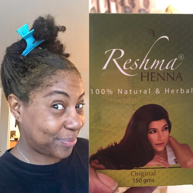 reshma henna application to gray roots