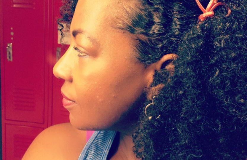 dense fine natural hair