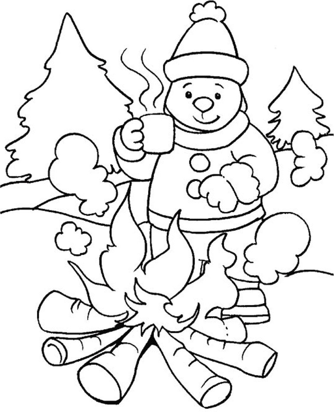 48 Winter Coloring Pages