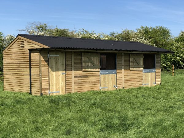 12×30 Stable Block With Tack Room Weatherboard Timber