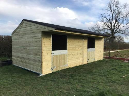 12 x 24 Stable Block Shiplap Timber