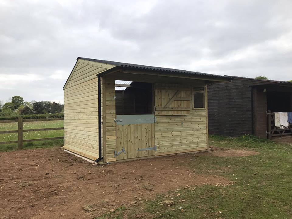 12 x 12 Stable Shiplap Timber