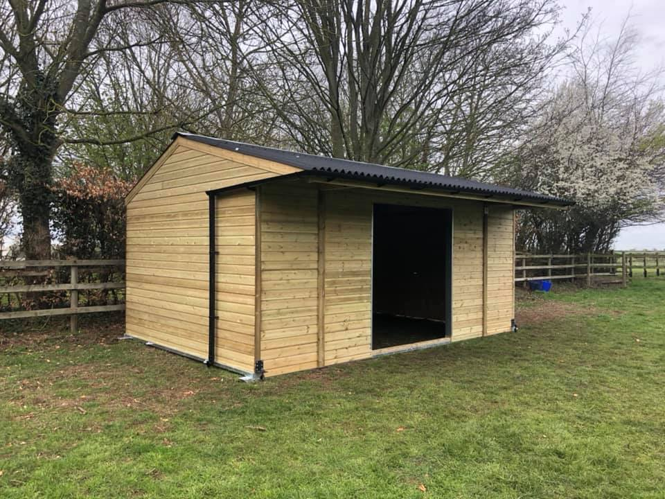 12 X 18 Field Shelter Apex Roof Shiplap Timber