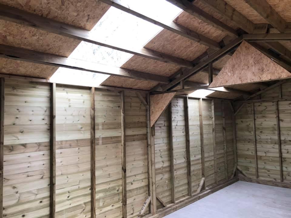 12x24 Shiplap garage inside