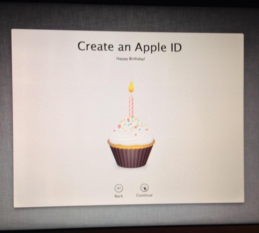 Apple ID virtual cupcake