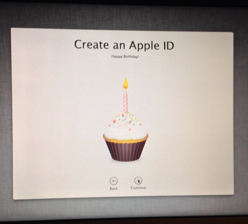 Apple ID virtual cupcake