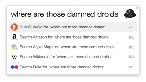 Alfred fallback search web searches