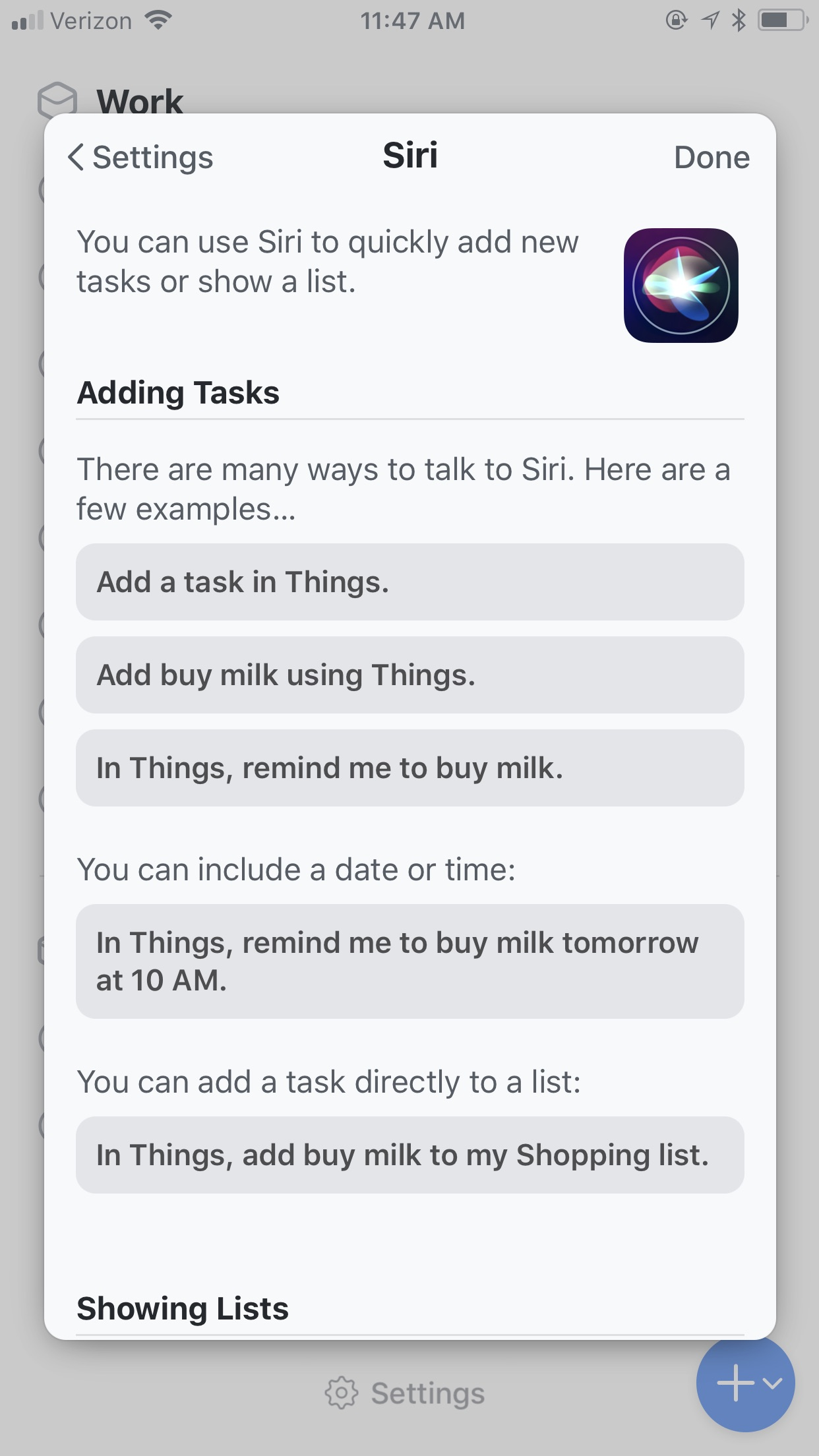 Things 3 has kick-butt Siri support, including on Watch