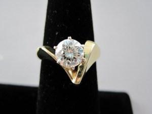 Hillsborough Estate Sale Jewelry 1.52 carat diamond ring