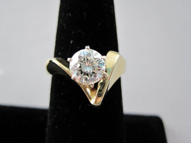 Sold: $6,000 1.52 carat diamond ring
