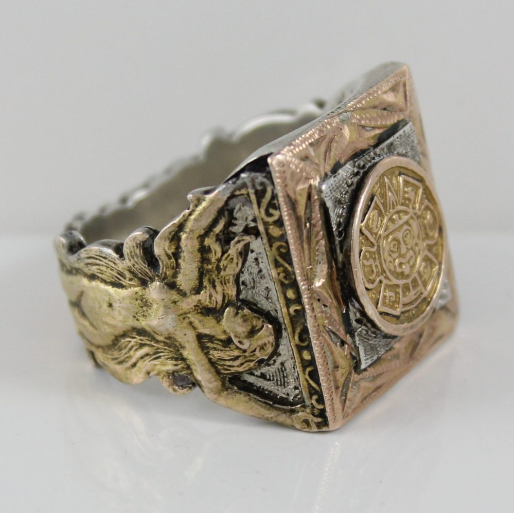 Sold: $1,200 Gold and Silver Ring from Mexico