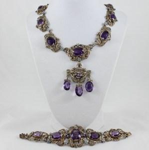 Rare Bohemian Silver Jewelry Set