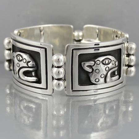 Sold: Sterling Jaguar Bracelet by Maria Belen Nilson $600