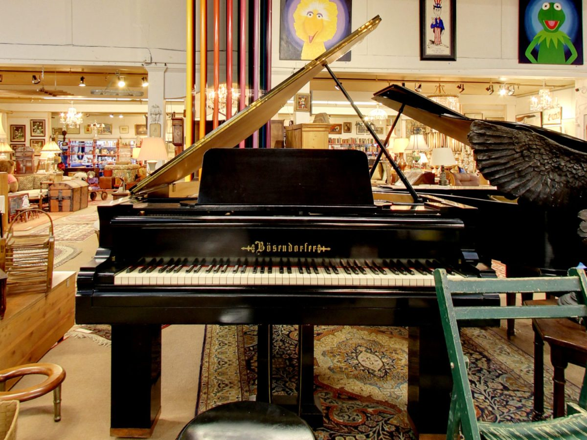Bosendorfer Piano in Our Fine Estate, Inc. Estate Showroom
